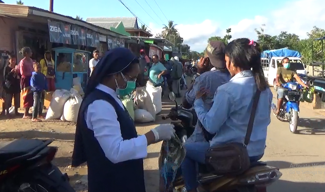 Pandemi Covid 19 Biara Ssps Halilulik Belu Gelar Aksi Bagi Masker Pena Nusantara