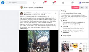 Postingan akun facebook Tujuh Juli Yuli yang merupakan ibu kandung korban.